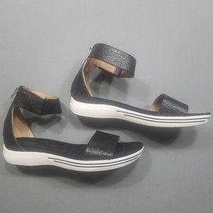 Adrienne Vittadini   black flats w/ ankle strap